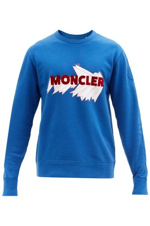 Moncler Men Sports Hoodies - Logo-appliqué Cotton-jersey Sweatshirt - Mens