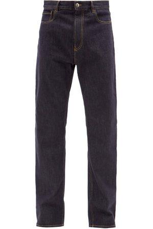 Moncler Logo-print Straight-leg Denim Jeans - Mens - Navy