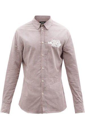 Dsquared2 Men Shirts - Milano Checked Cotton-flannel Shirt - Mens - Checks