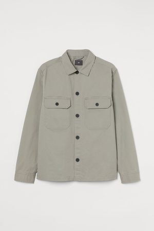 H&M Men Jackets - Twill Shirt Jacket