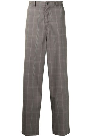 UNDERCOVER Plaid-check tailored trousers - Grey