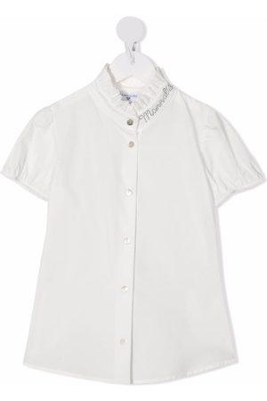 MONNALISA Ruffle-detailed short-sleeved shirt