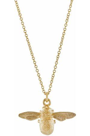 Alex Monroe Women Necklaces - 18kt yellow Inbetweeny Bee necklace