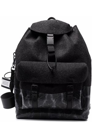 Maison Margiela Textured printed backpack - Grey