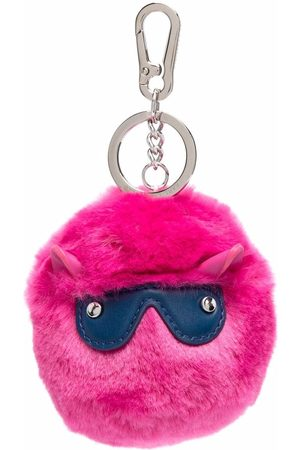 Karl Lagerfeld Cyber Choupette faux-fur keychain