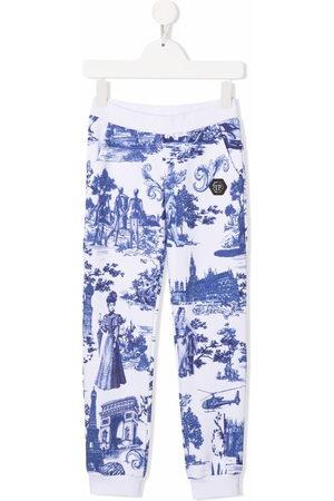 Philipp Plein En PLEIN air-print track trousers