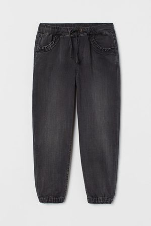 H&M Tracksuits - Ruffle-trimmed Denim Joggers