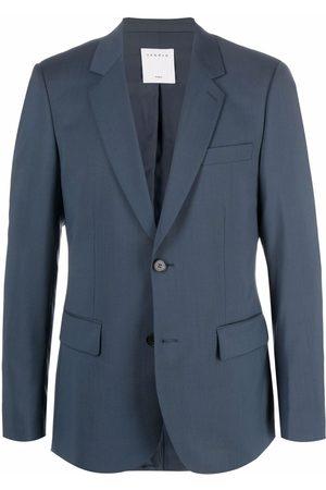 Sandro Men Blazers - Petrol single-breasted blazer