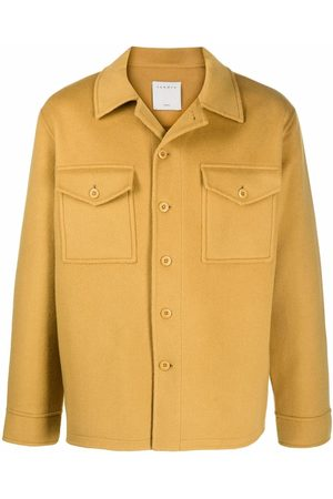 Sandro Men Jackets - Double-faced button-front overshirt jacket