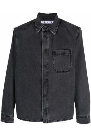 OFF-WHITE Men Denim - Arrow-print denim shirt - Grey