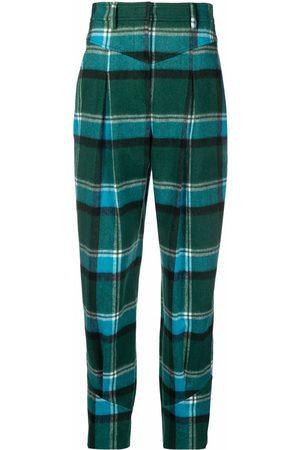 Alberta Ferretti Plaid-check print trousers