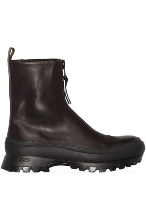 Jil Sander Zip-up leather hiking boots