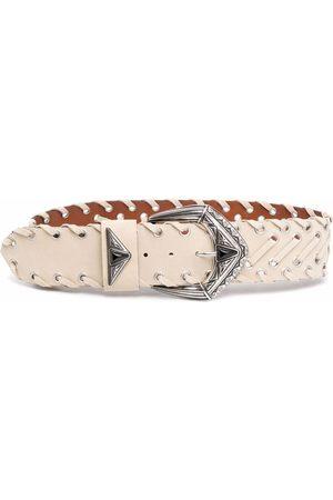 Etro Buckle leather belt - Neutrals