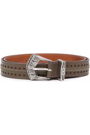 Etro Women Belts - Embroidered buckle belt