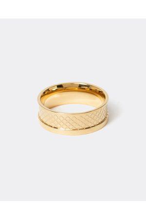 Men Rings - River Island Mens Gold colour celtic swirl ring