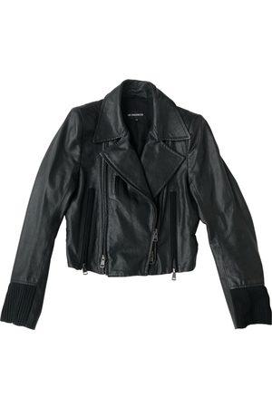 ANN DEMEULEMEESTER Women Leather Jackets - Leather biker jacket