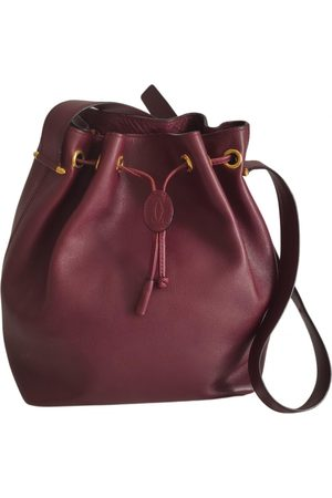 Cartier Seau leather handbag