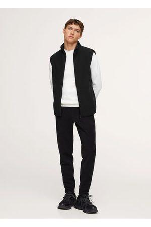 MANGO Textured zipper vest