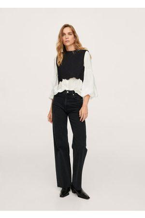MANGO Wide leg high waist jeans