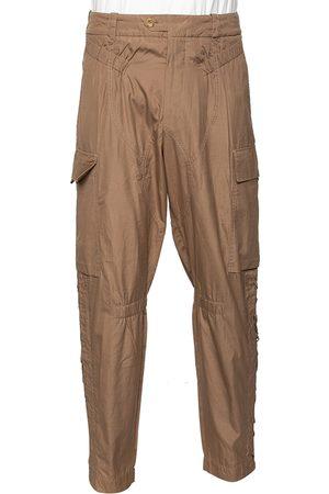Saint Laurent Saint Laurent Cotton Cross Tie Detailed Cargo Pants M