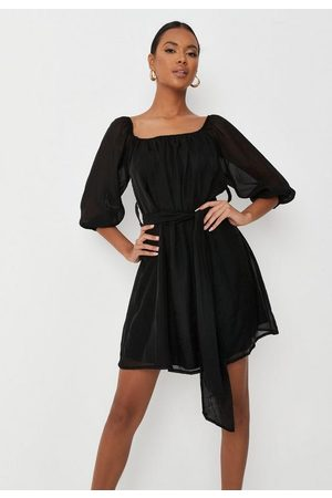 Missguided Women Party Dresses - Tall Square Neck Belted Dress