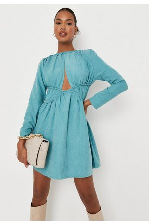 Missguided Cut Out Ruched Waist Mini Dress