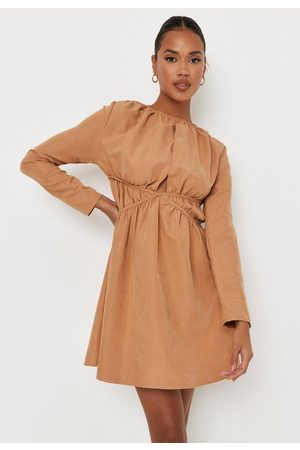 Missguided Stone Cut Out Ruched Waist Mini Dress