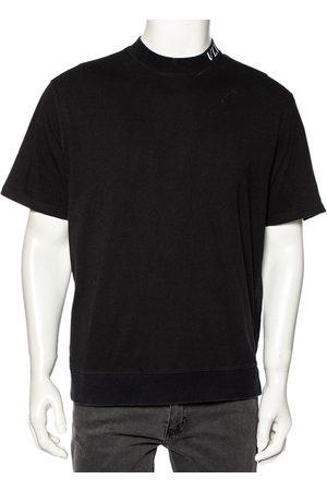 VALENTINO Men T-shirts - Cotton VLTN Intarsia Trim Detailed Crew Neck T-Shirt L