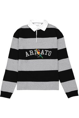 Axel Arigato Men Shirts - Watercollar Bee Bird Rugby Shirt