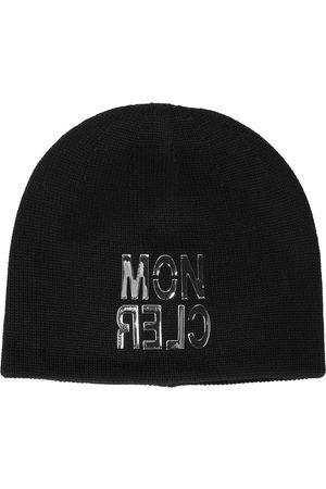 Moncler Beanies - Wool logo beanie