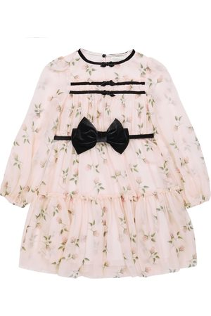 MONNALISA Long-sleeved floral dress