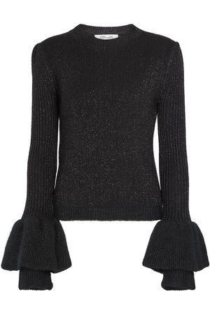 Diane von Furstenberg Kit metallic wool-blend sweater