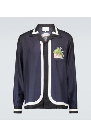 Casablanca Men Shirts - Cuban collar silk shirt