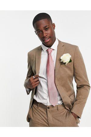 SELECTED Men Blazers - Suit jacket in slim fit tan