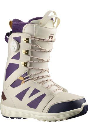 Salomon Men Snow Boots - Launch Lace Sj Boa Team Vani s Snowboard Boots - Vanilla Ice/grape Juice/rainy Day