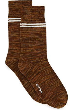 Rhythm Men Socks - Staple s Fashion Socks - Tobacco