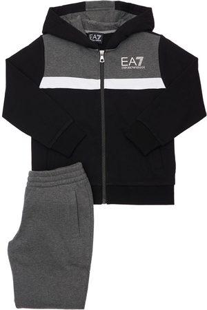 EA7 Boys Sports Pants - Cotton Blend Sweatshirt & Sweatpants