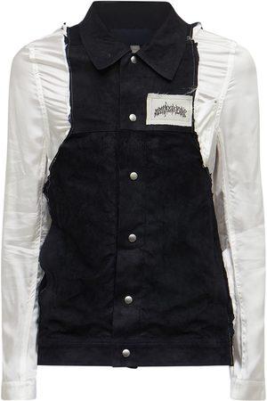 Rick Owens Men Leather Jackets - Lvr Exclusive Leather & Viscose Jacket
