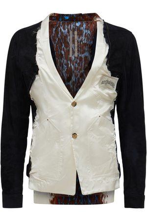 Rick Owens Lvr Exclusive Viscose & Leather Blazer