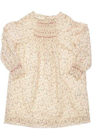 BONPOINT Girls Printed Dresses - Printed Cotton Dress