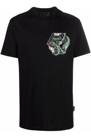 Philipp Plein Short Sleeve - Snake-print short-sleeve T-shirt