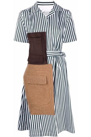 Maison Margiela Women Casual Dresses - Memory Of stripe-pattern shirtdress