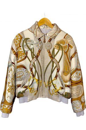 Hermès Women Leather Jackets - Silk biker jacket