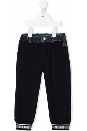 Lapin House Chinos - Denim-panel five-pocket trousers