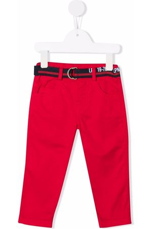 Lapin House Chinos - Belted stretch-cotton chinos