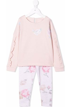 Lapin House Girls Tracksuits - Floral print tracksuit set