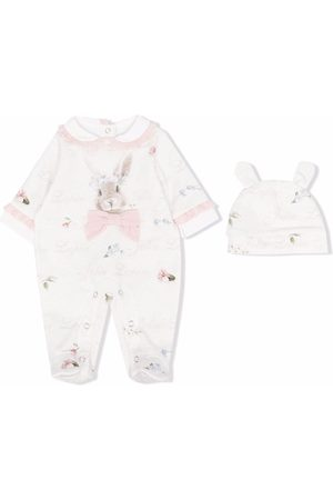 Lapin House Rabbit print pyjama - Neutrals