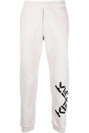 Kenzo Logo-print slim-fit track pants - Grey