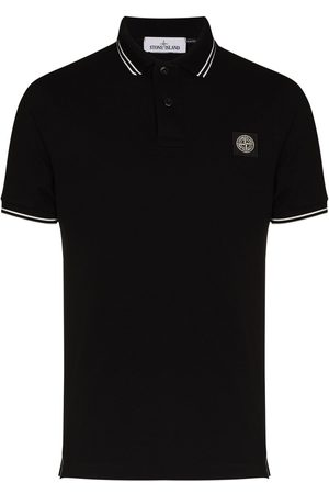Stone Island Logo-patch polo shirt