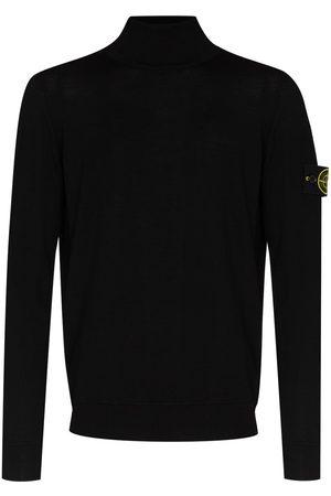 Stone Island Logo-patch roll-neck jumper